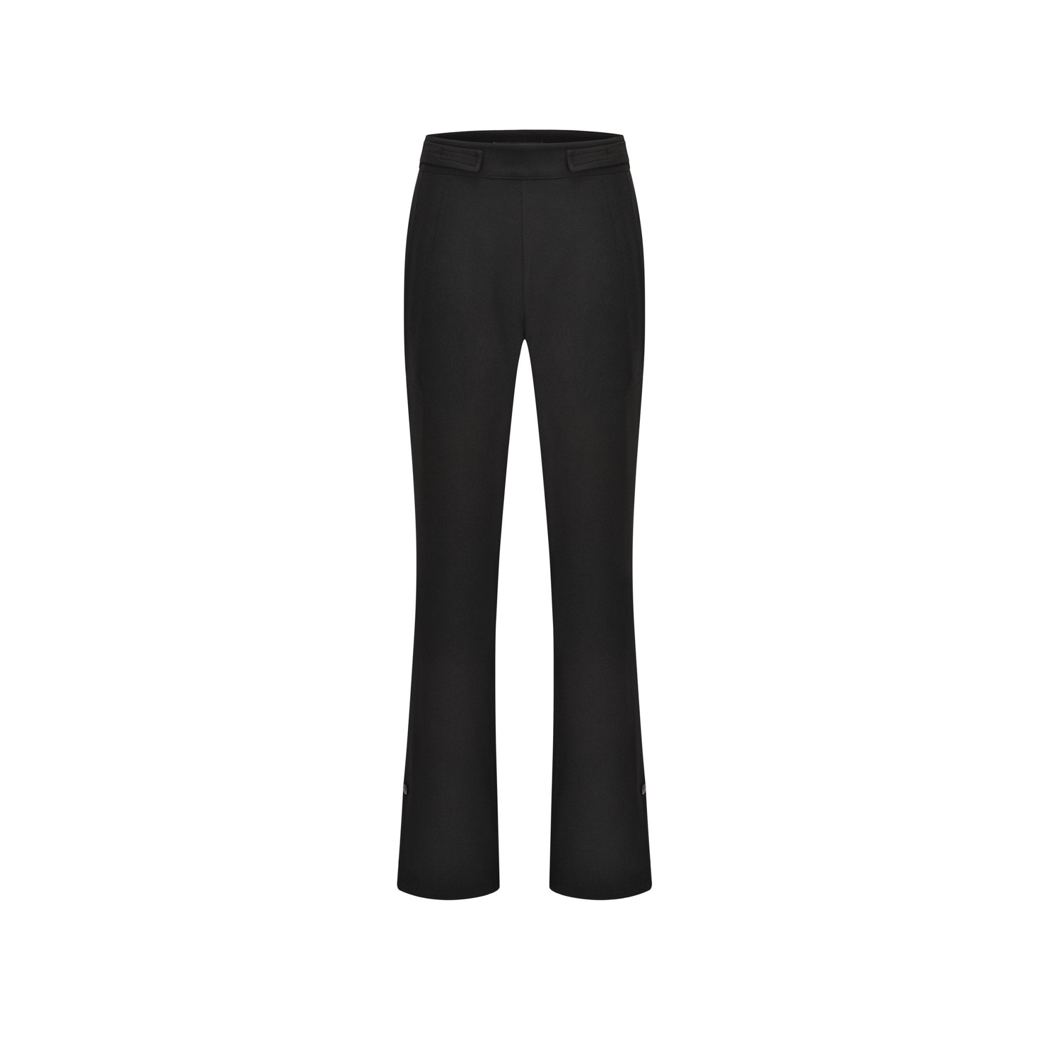 THREE QUARTERS Black Irregular Trousers | MADA IN CHINA