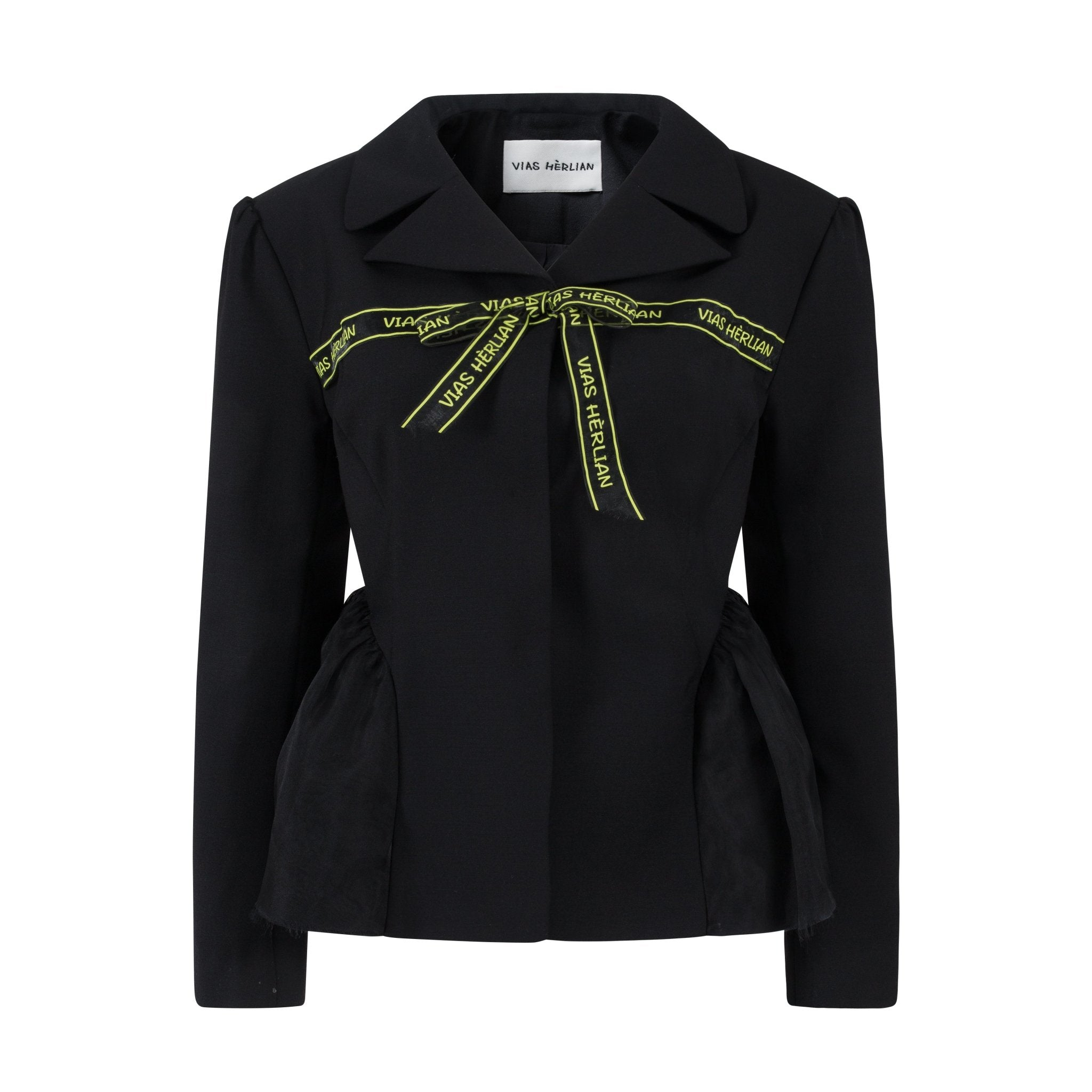 VIAS HERLIAN Black Le Cadeau Bowknot Jacket | MADA IN CHINA
