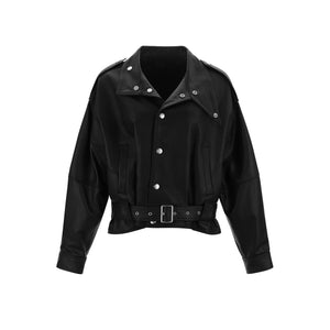 WARM AID Black Leather Jacket | MADA IN CHINA