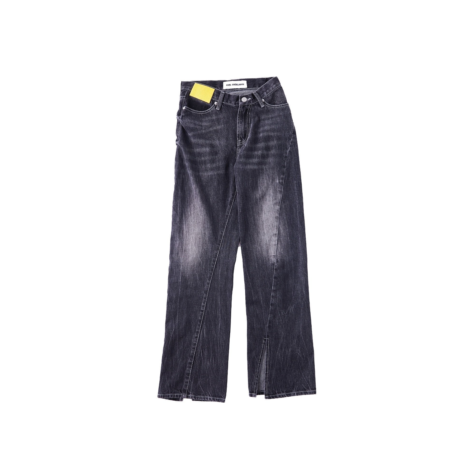 ANN ANDELMAN Black Lizard Patch Jean | MADA IN CHINA