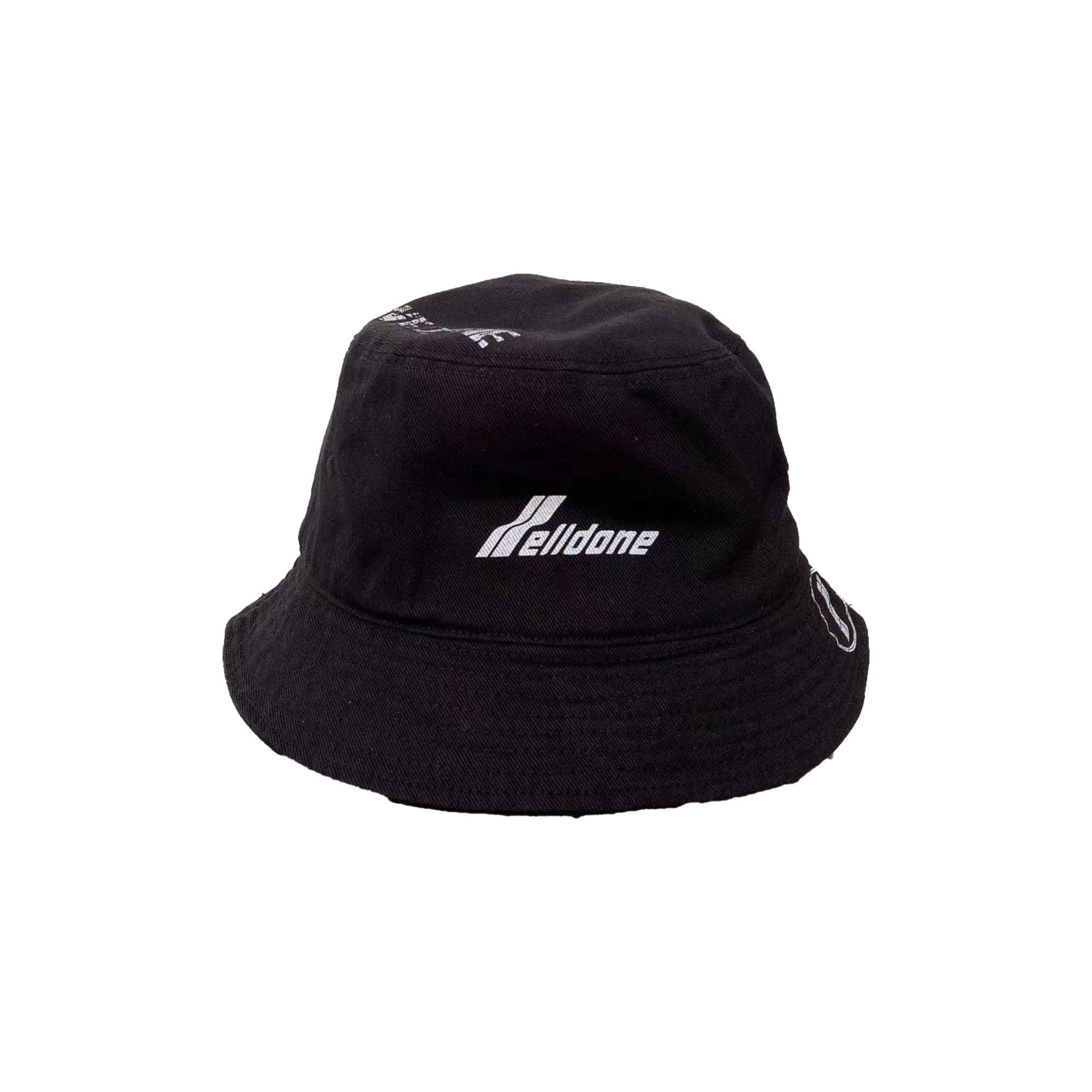 WE11DONE Black Logo Bucket Hat | MADA IN CHINA
