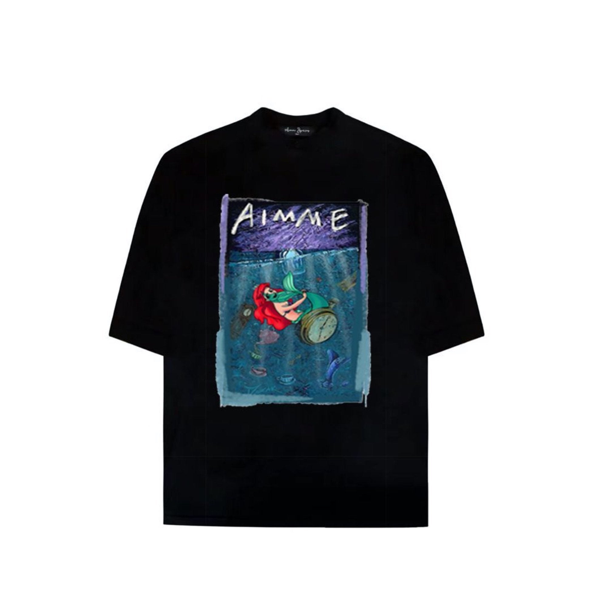 AIMME SPARROW Black 'Mermaid' Tee | MADA IN CHINA