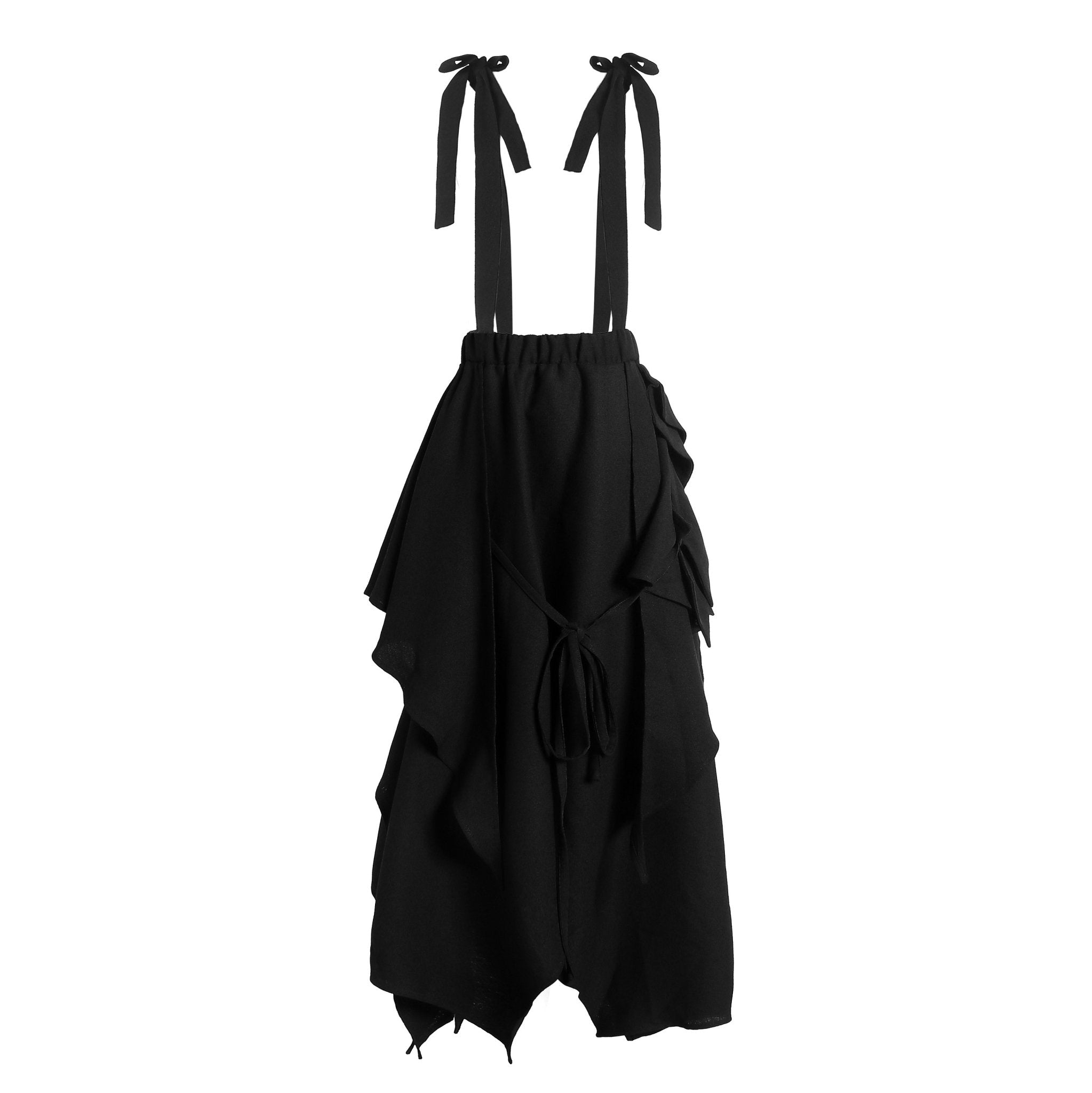 ELYWOOD Black Mesh Overall Dress | MADA IN CHINA