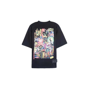 WE11DONE Black Movie Collage Tee | MADA IN CHINA