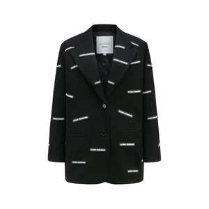 40 CREW Black New Full Label Blazer Jacket | MADA IN CHINA