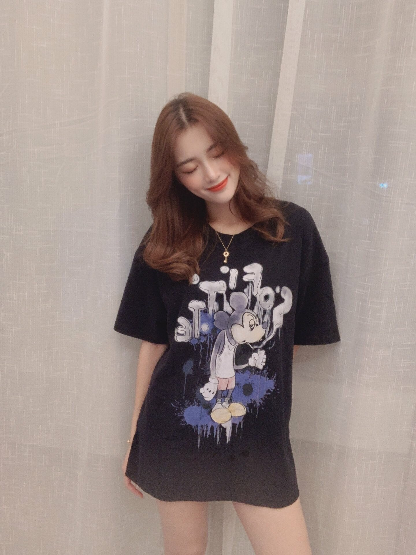 SOFITTE Black Painted Mickey Tee | MADA IN CHINA