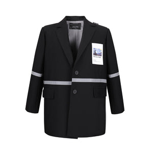 SASA MAX Black Patch Blazer Jacket | MADA IN CHINA