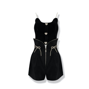 AIMME SPARROW Black Pearl Slip Vest | MADA IN CHINA