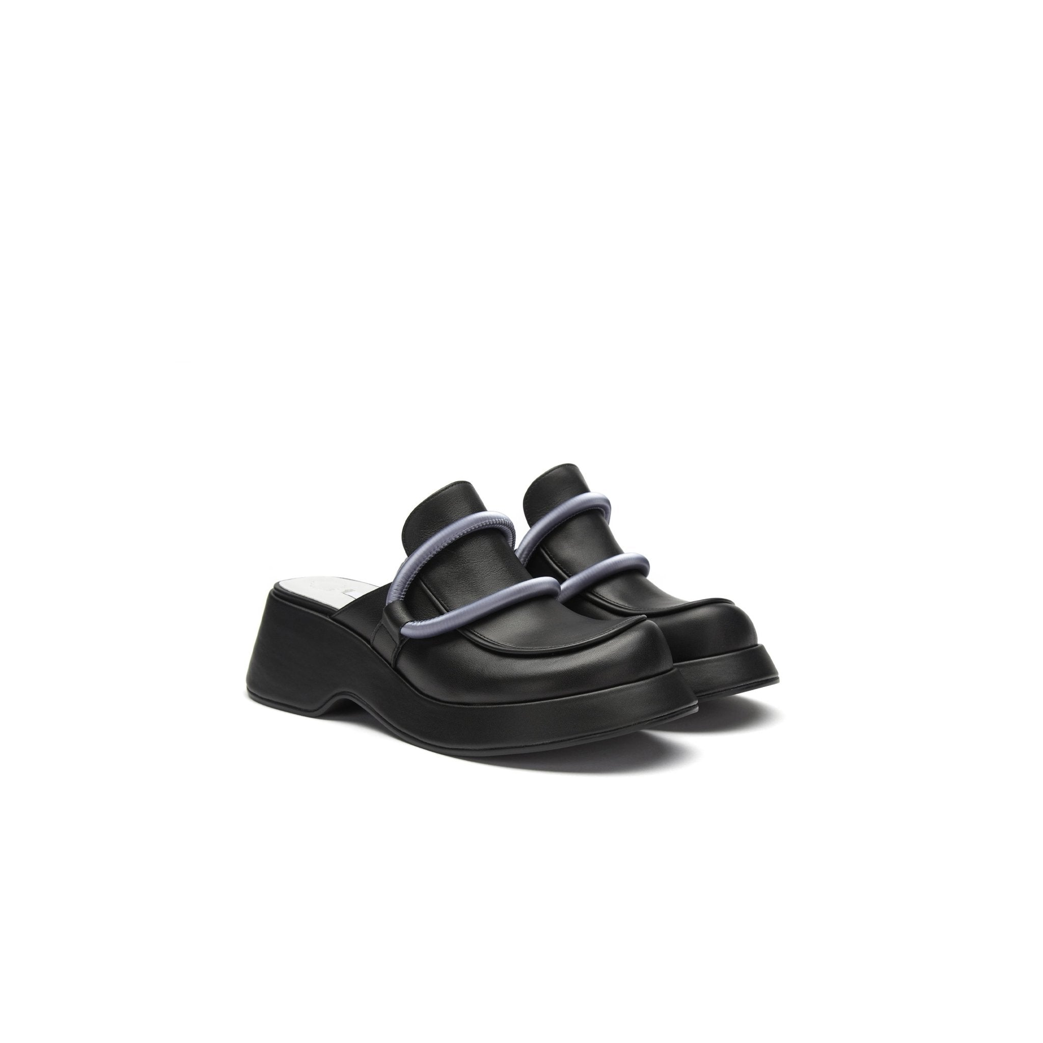 LOST IN ECHO Black Platform Loafers | MADA IN CHINA