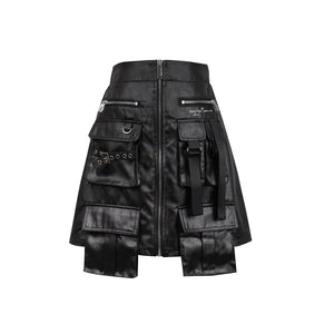 SASA MAX Black Pocket Wrap Skirt | MADA IN CHINA