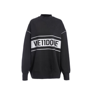WE11DONE Black Reflective Logo Sweater | MADA IN CHINA