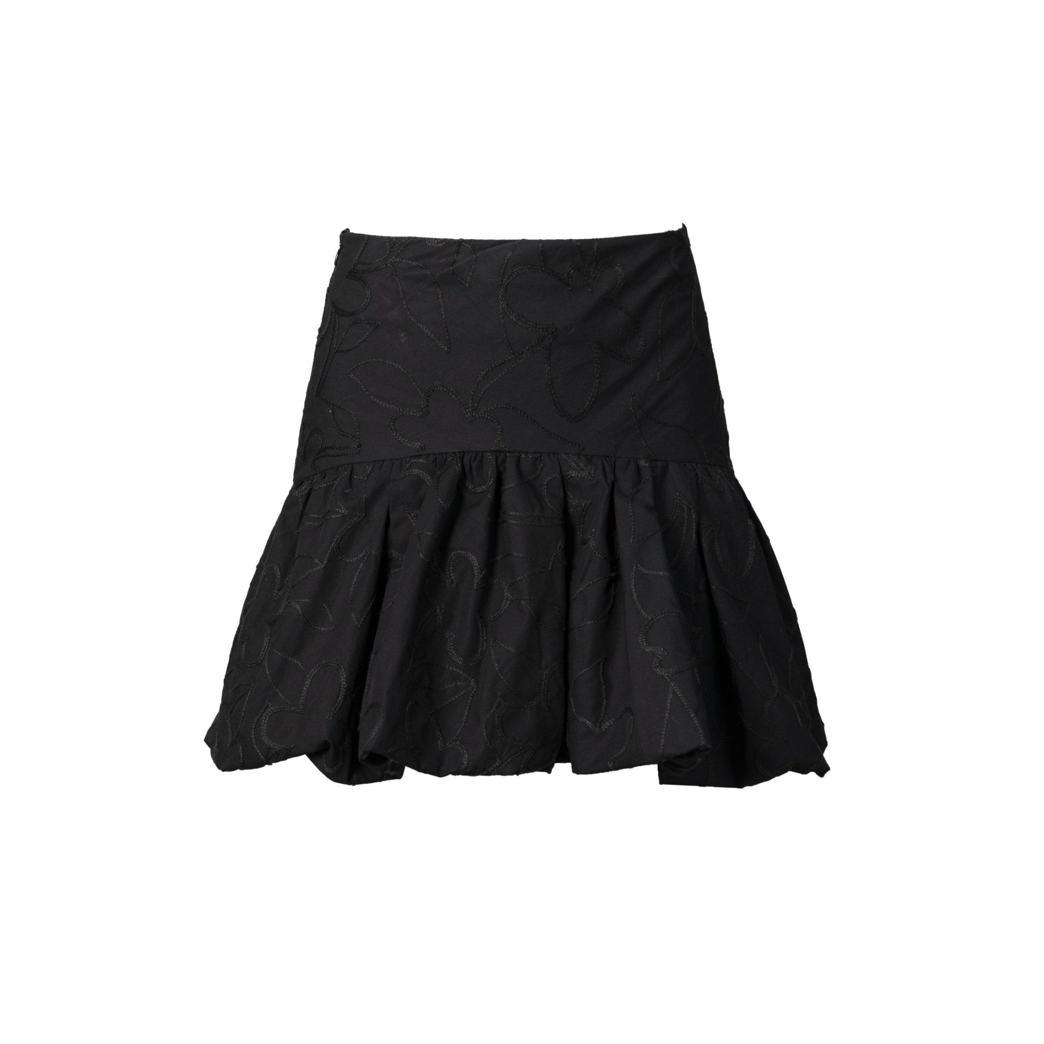 VIAS HERLIAN Black Ruffle Skirt | MADA IN CHINA