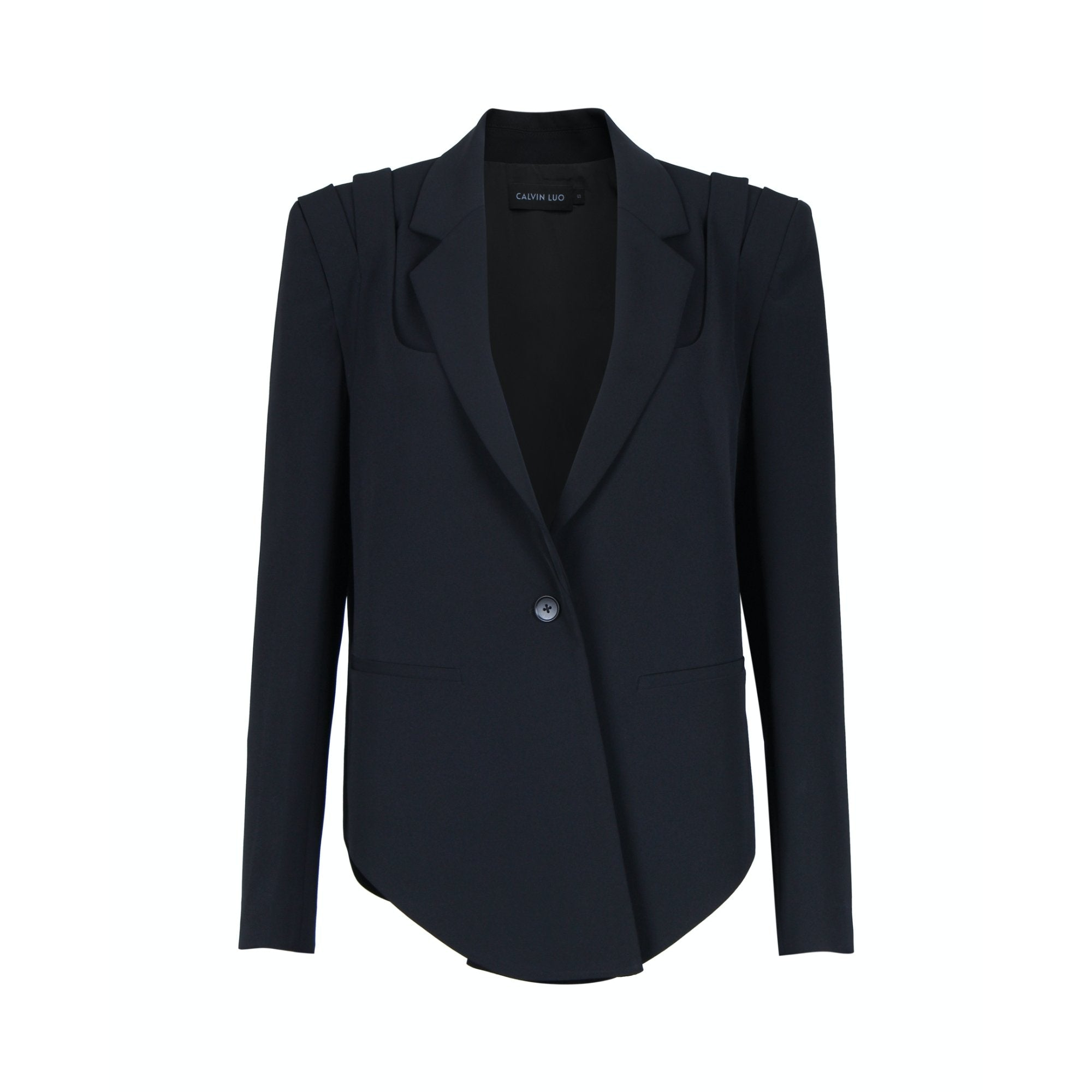 CALVIN LUO Black Shoulder Strap Jacket | MADA IN CHINA
