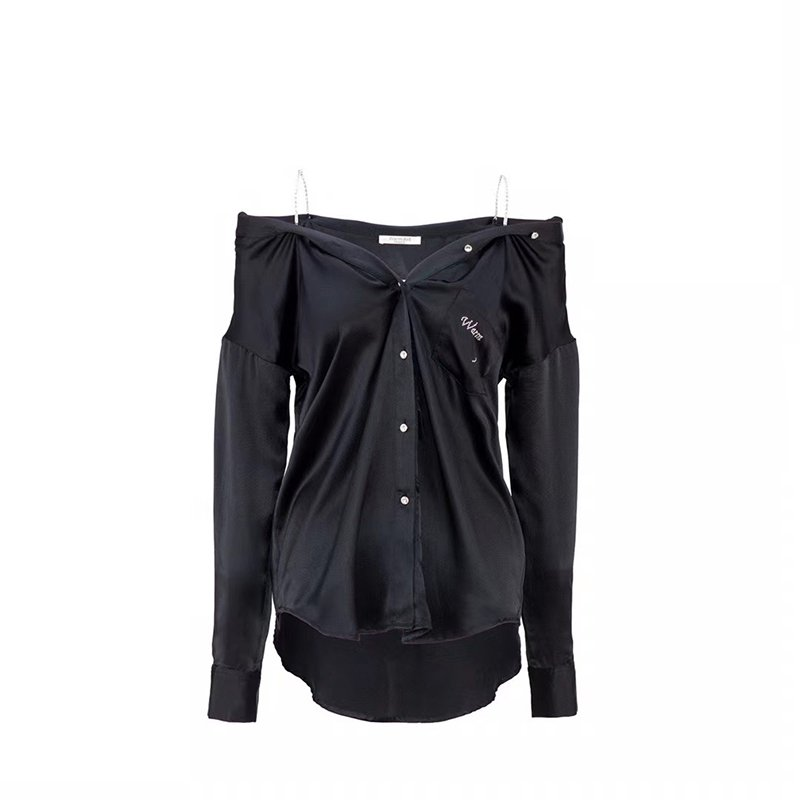 WARM AID Black Silk Diamond Shirt | MADA IN CHINA