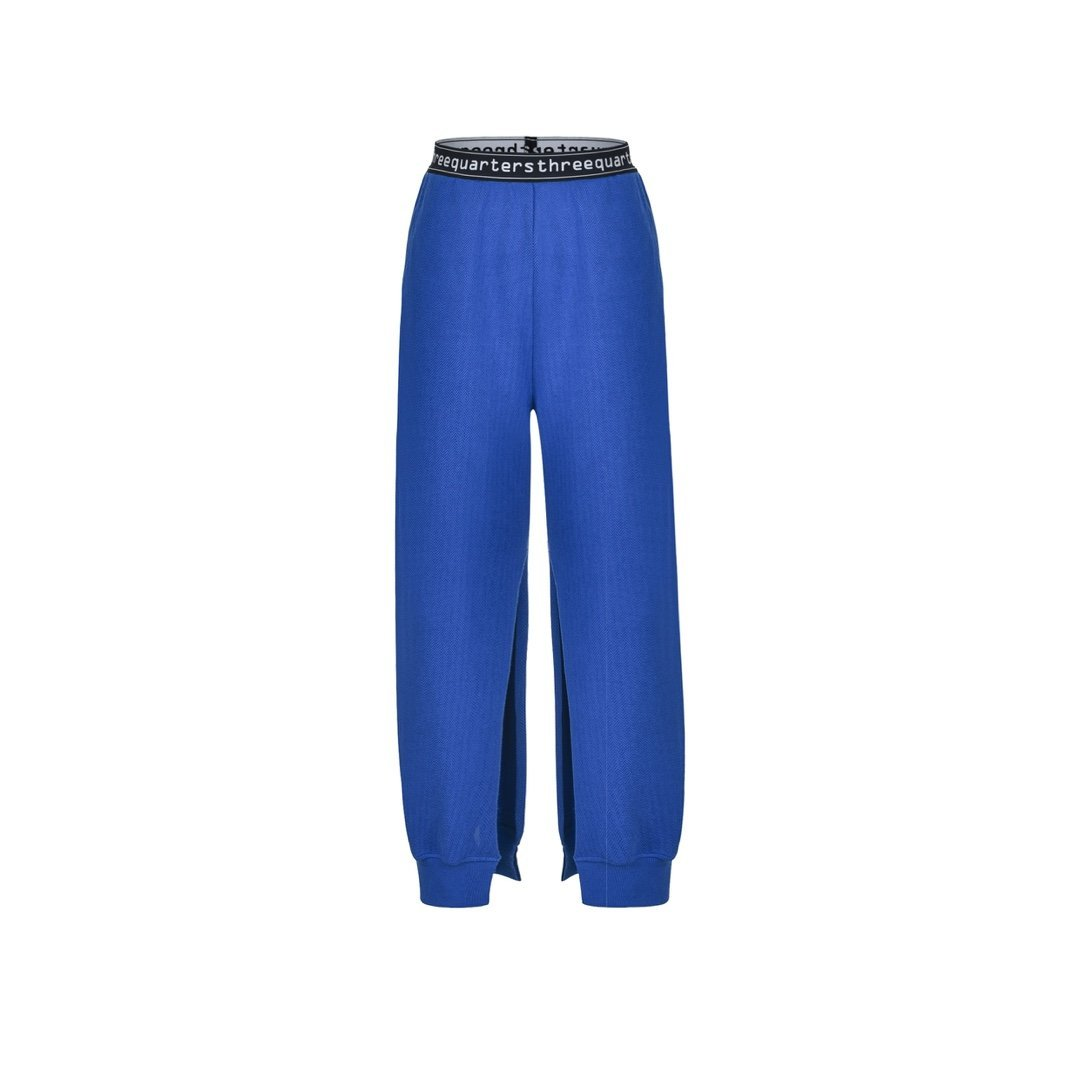 THREE QUARTERS Black Split Pants | MADA IN CHINA