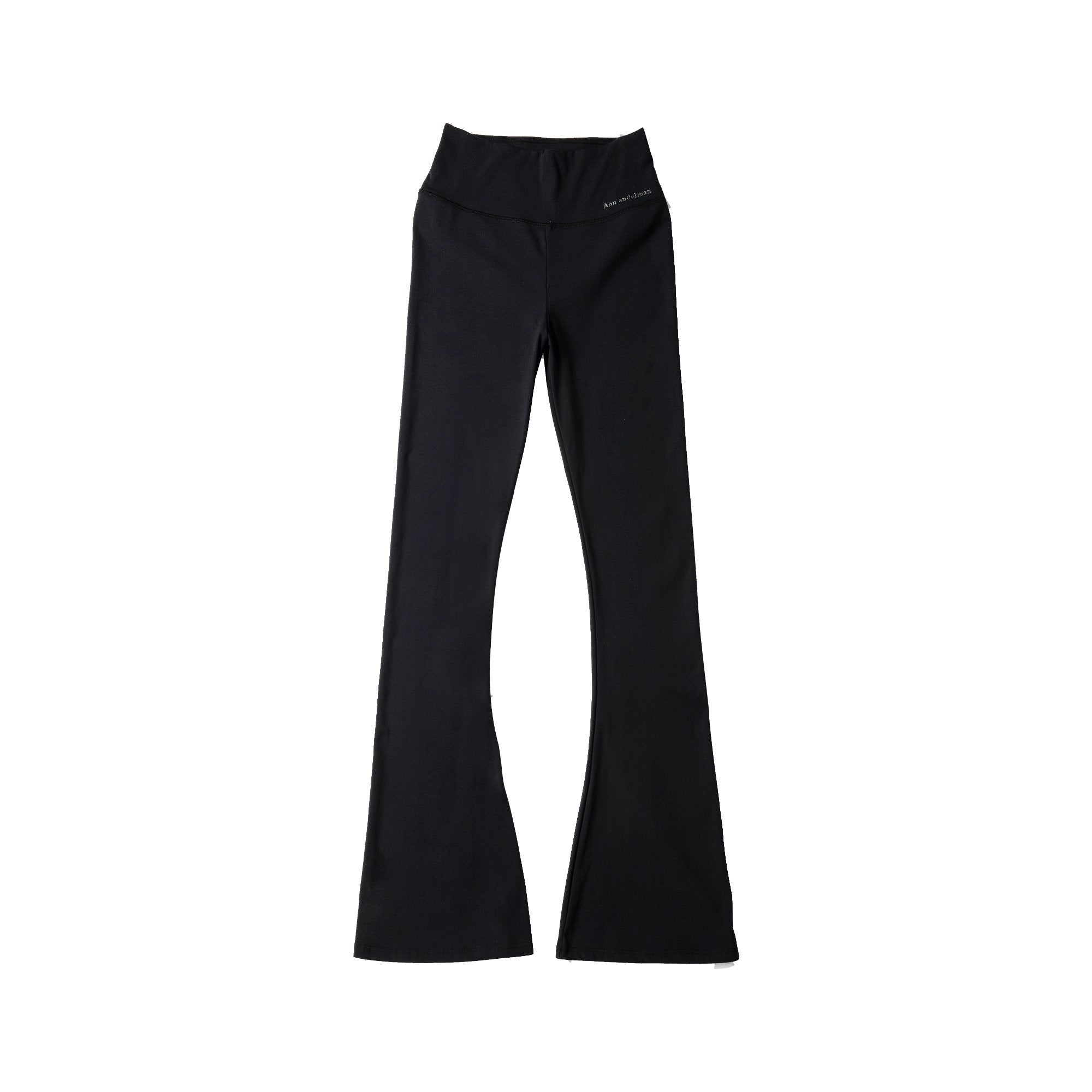 ANN ANDELMAN Black Stretch Wide Trousers | MADA IN CHINA