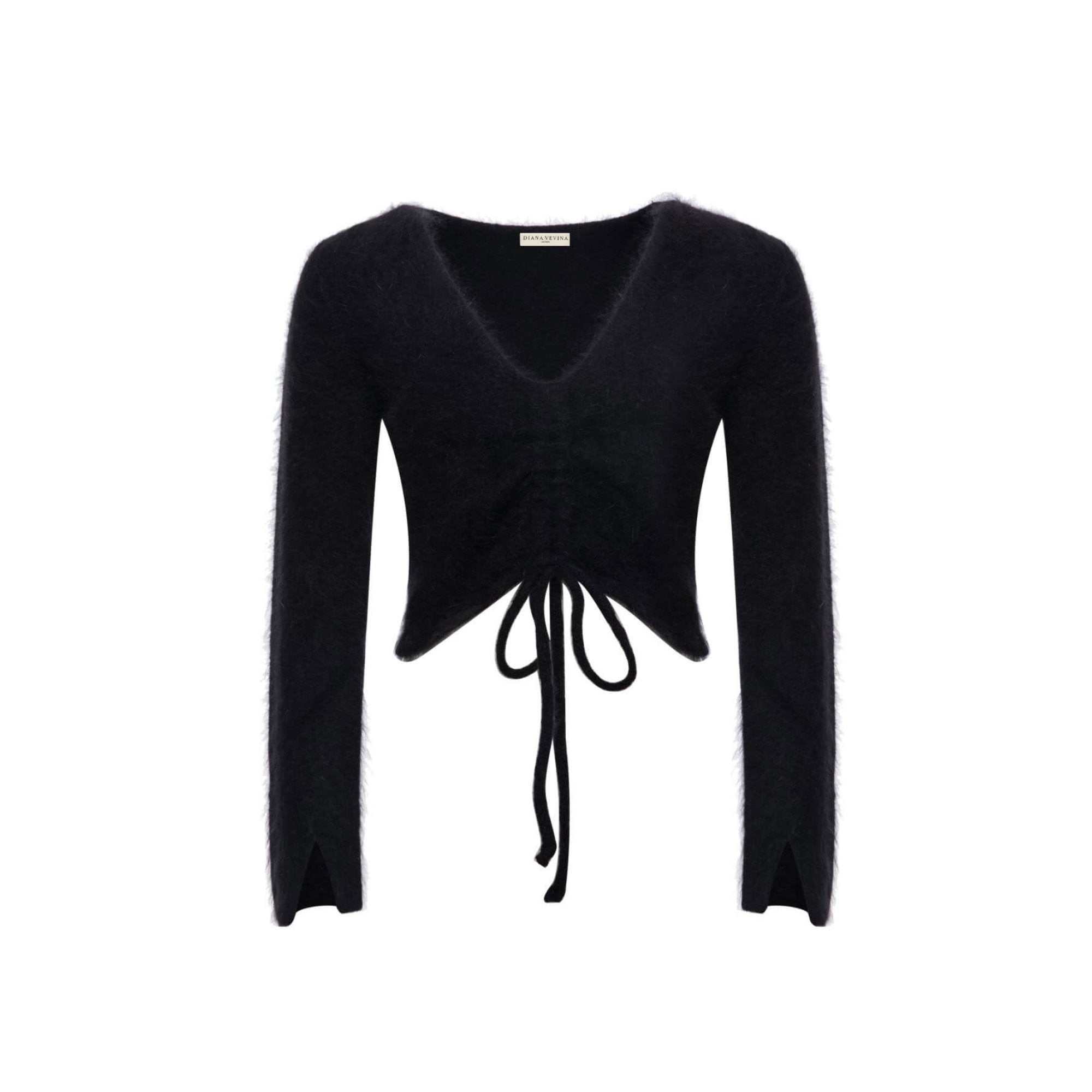 DIANA VEVINA Black Strip Sweatshirt | MADA IN CHINA