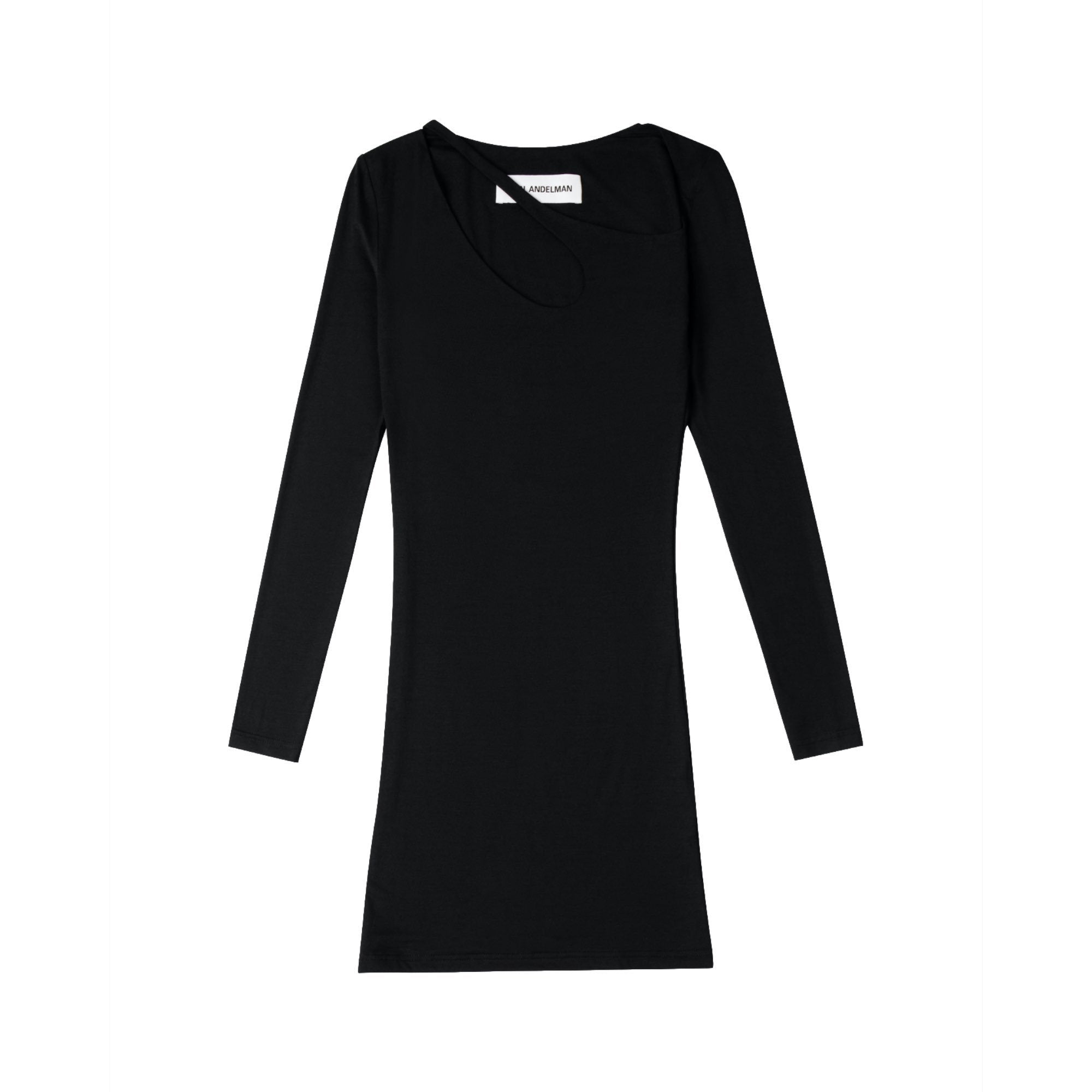 ANN ANDELMAN Black U-Neck Dress | MADA IN CHINA