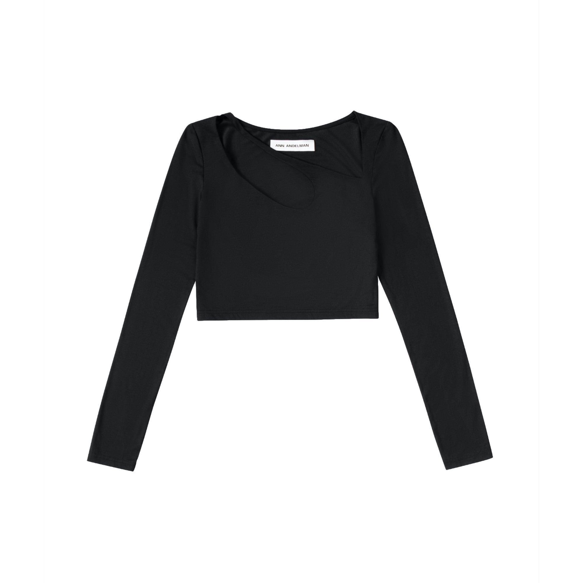 ANN ANDELMAN Black U-Neck Top | MADA IN CHINA