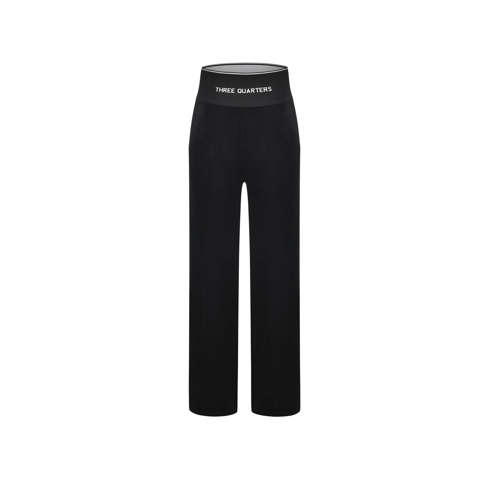 THREE QUARTERS Black Velvet Pants | MADA IN CHINA