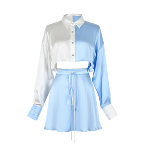 WARM AID Blue and White Silk Dress | MADA IN CHINA