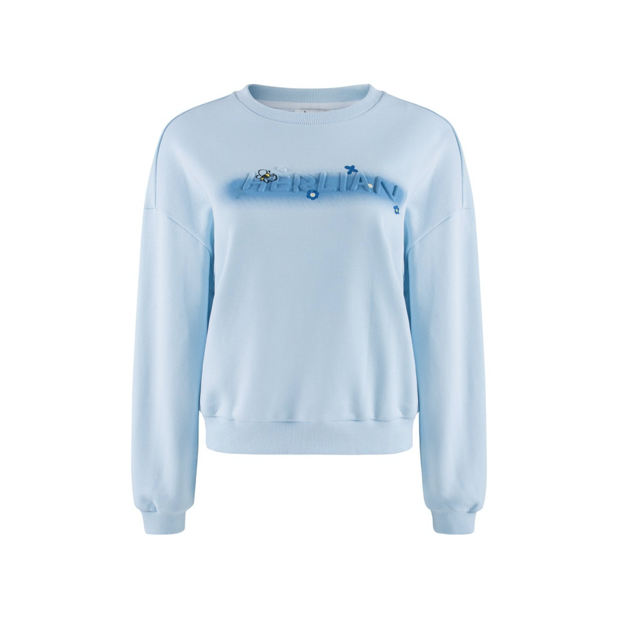 HERLIAN Blue Bee Logo Sweater | MADA IN CHINA