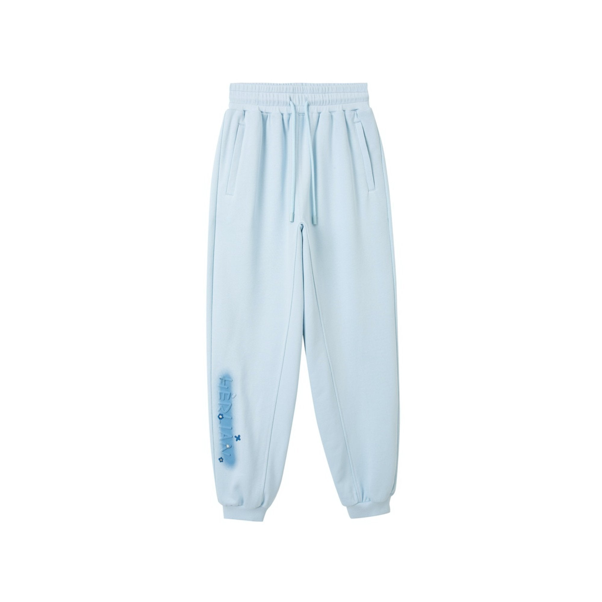 HERLIAN Blue Bee Logo Sweatpants | MADA IN CHINA