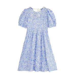 AIMME SPARROW Blue Bubble Sleeve Dress | MADA IN CHINA