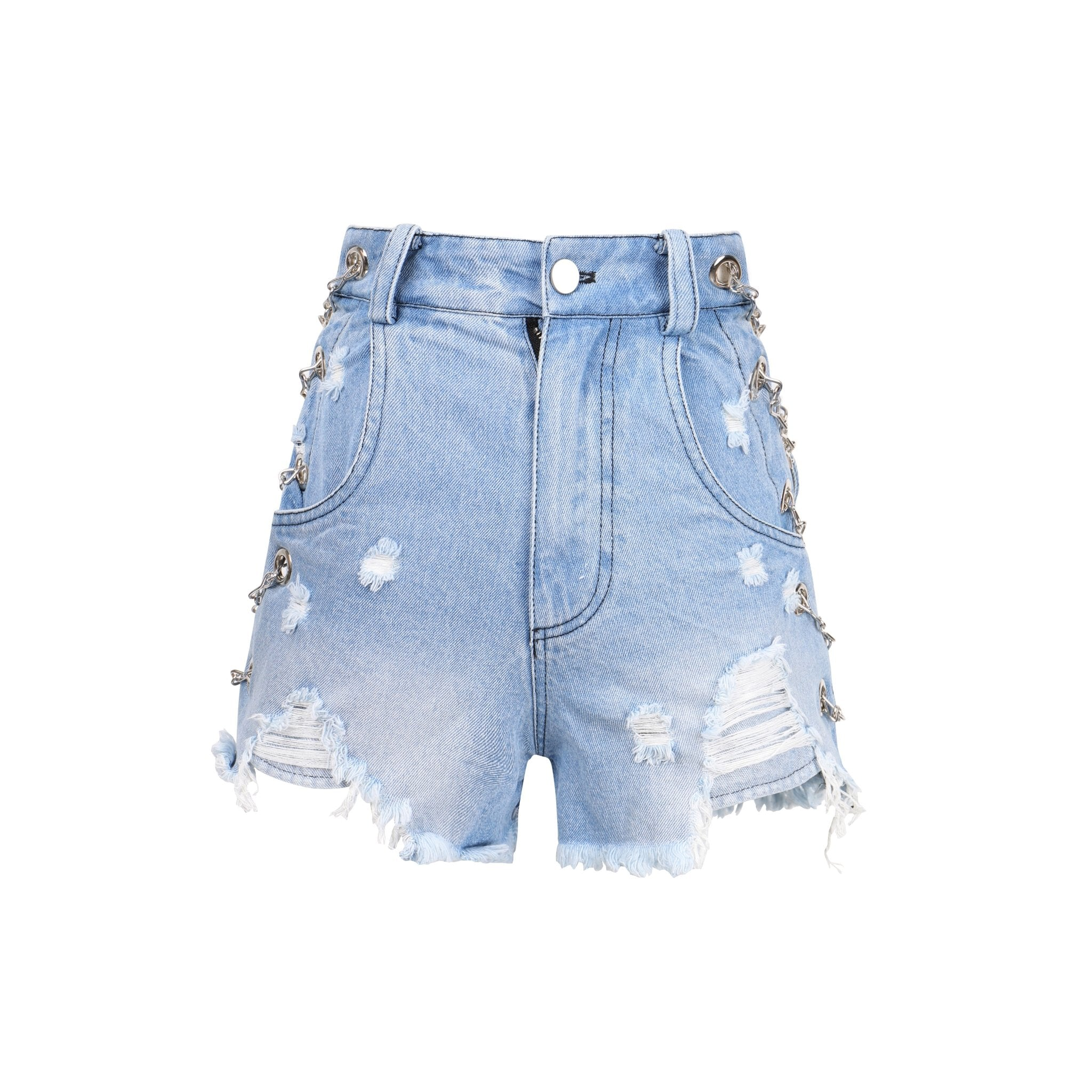 ONOFFON Blue Chain Shorts | MADA IN CHINA