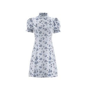 WARM AID Blue Cheongsam Dress | MADA IN CHINA