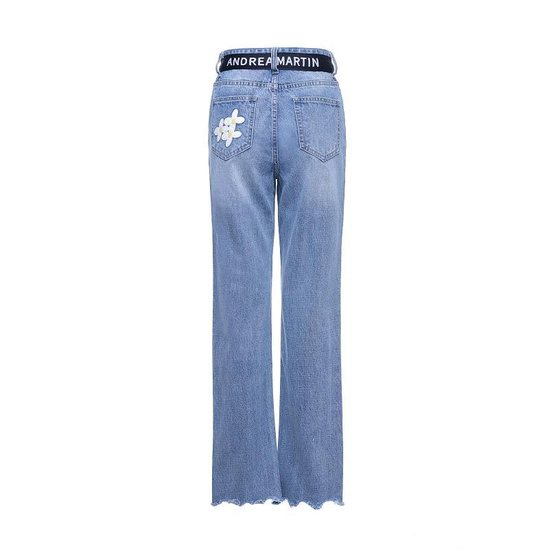 ANDREA MARTIN Blue Floral Jeans | MADA IN CHINA