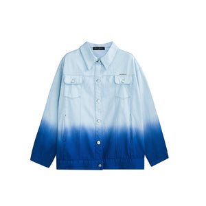 AIMME SPARROW Blue Gradient Denim Jacket | MADA IN CHINA