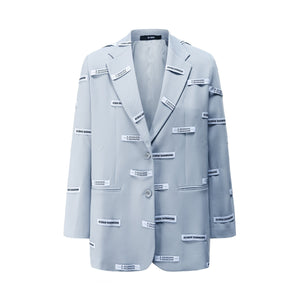 40 CREW Blue Lead Blazer Jacket | MADA IN CHINA