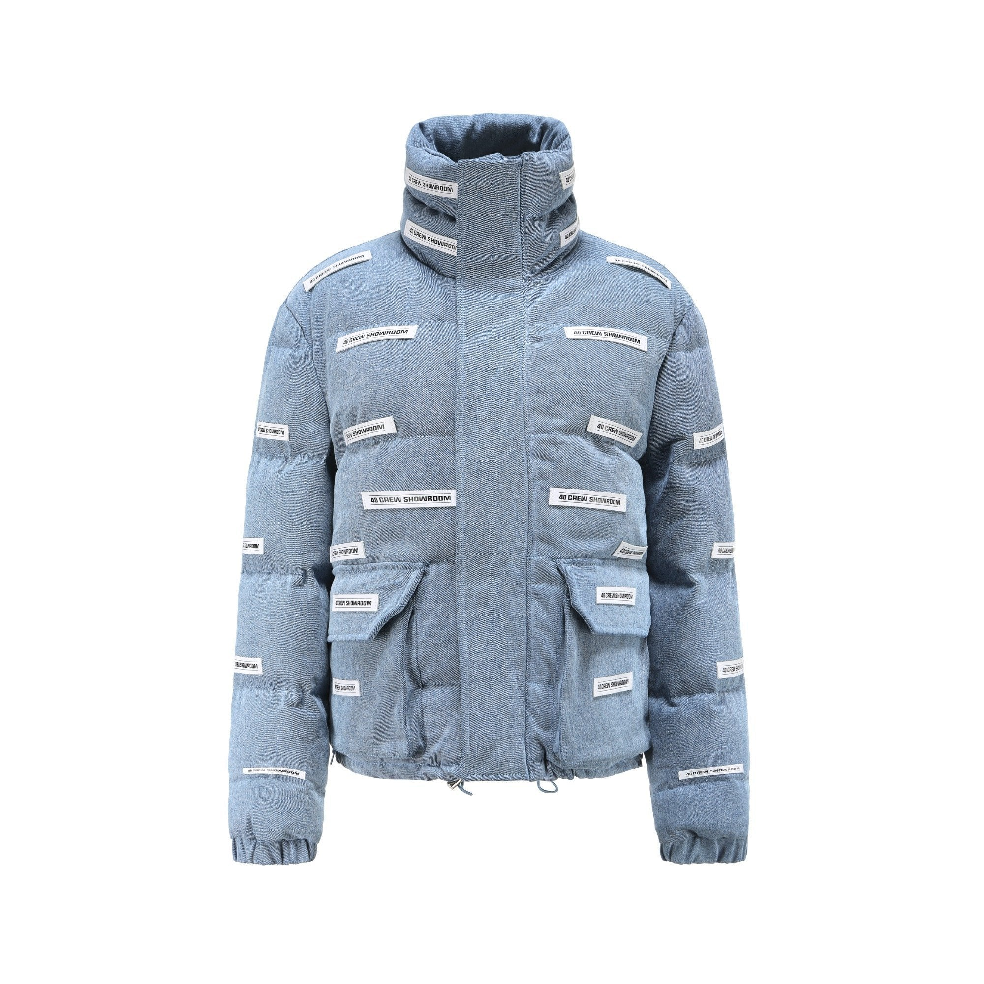 40 CREW Blue Lead Denim Puff Jacket | MADA IN CHINA