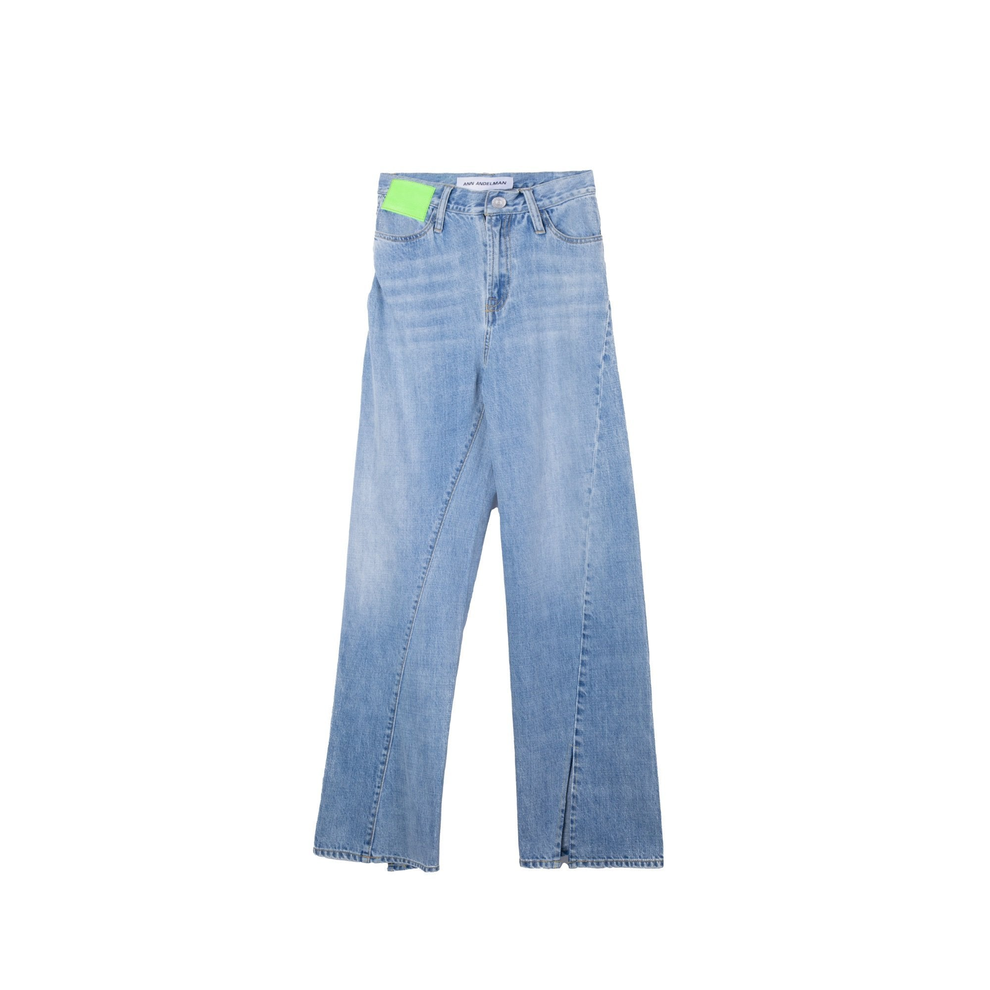 ANN ANDELMAN Blue Lizard Patch Jeans | MADA IN CHINA