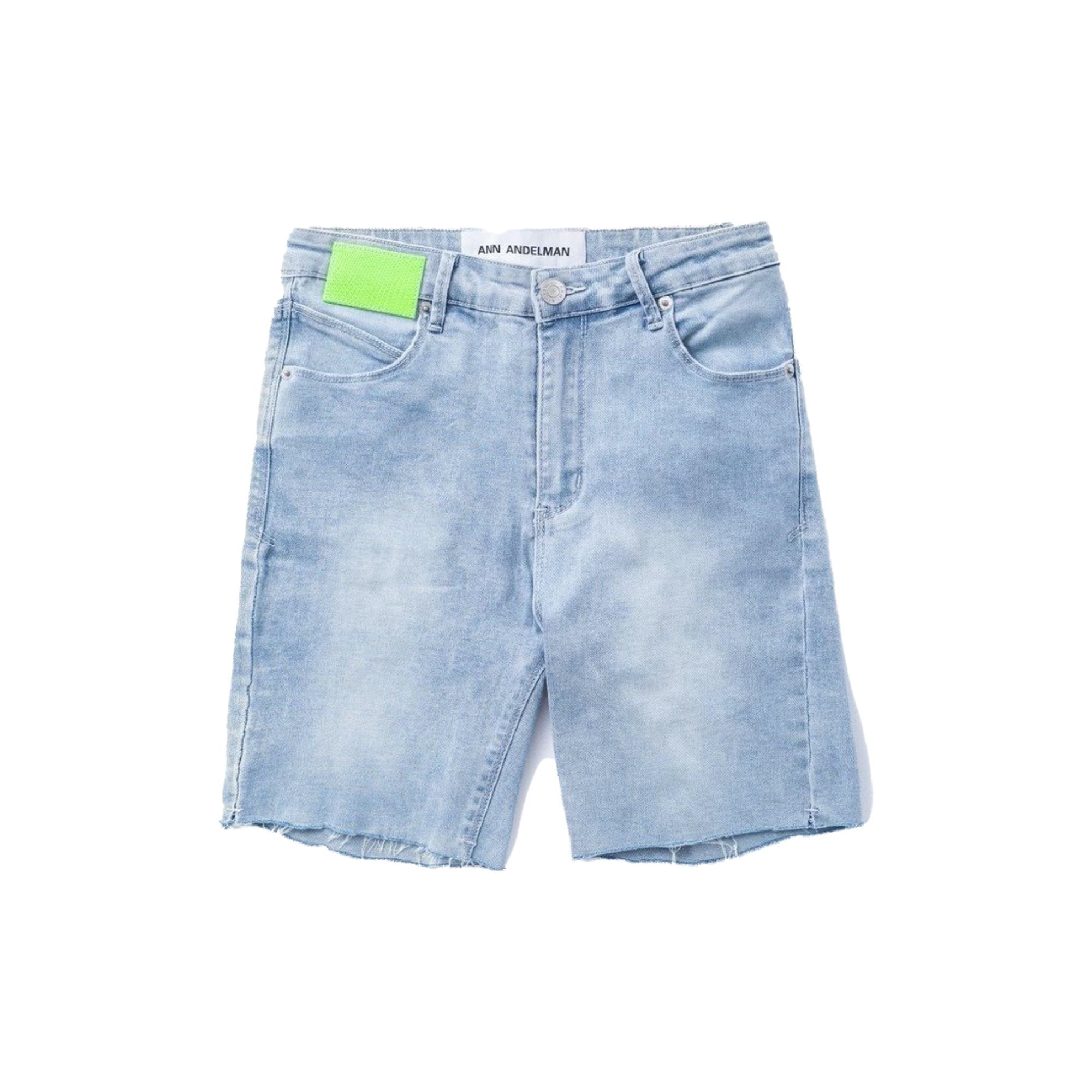 ANN ANDELMAN Blue Lizard Patch Shorts | MADA IN CHINA