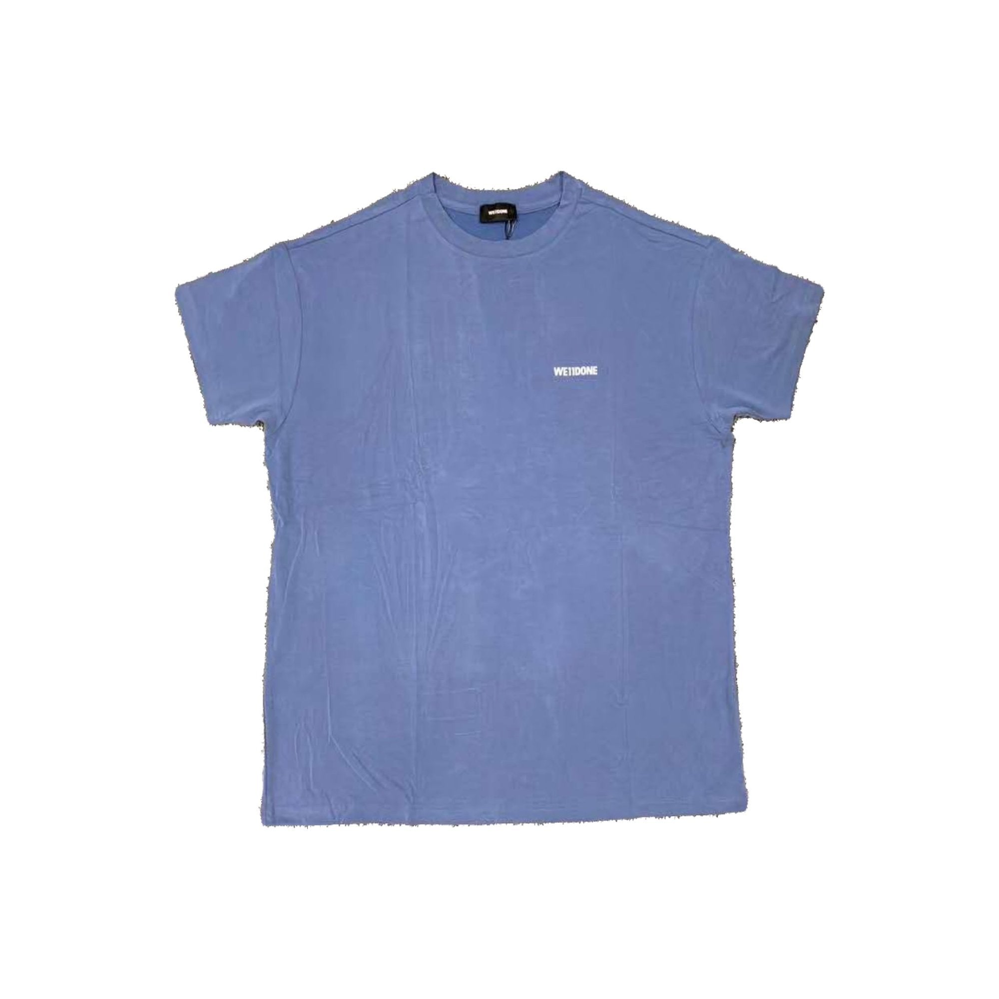 WE11DONE Blue Logo Print Tee | MADA IN CHINA