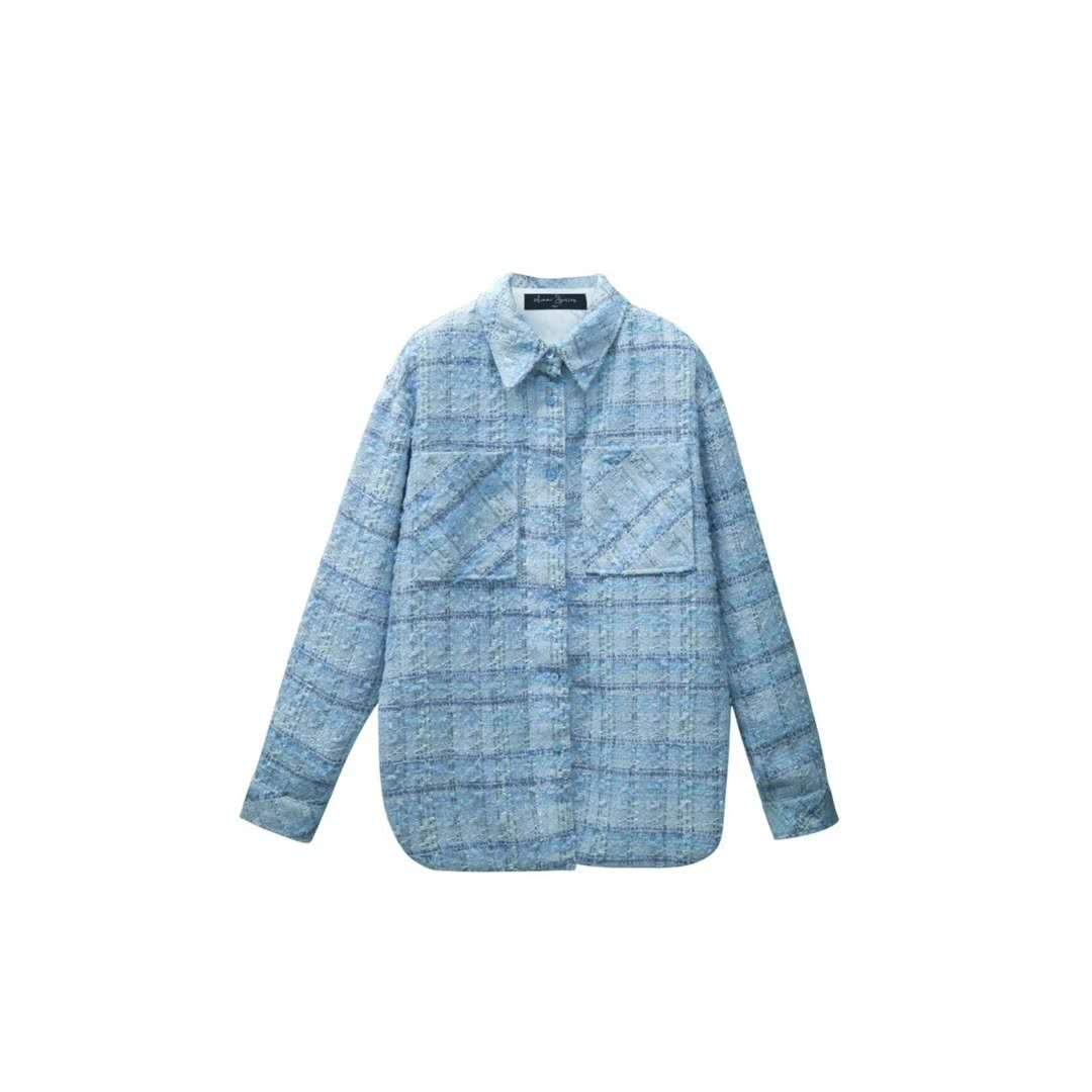 AIMME SPARROW Blue Plaid Shirt | MADA IN CHINA