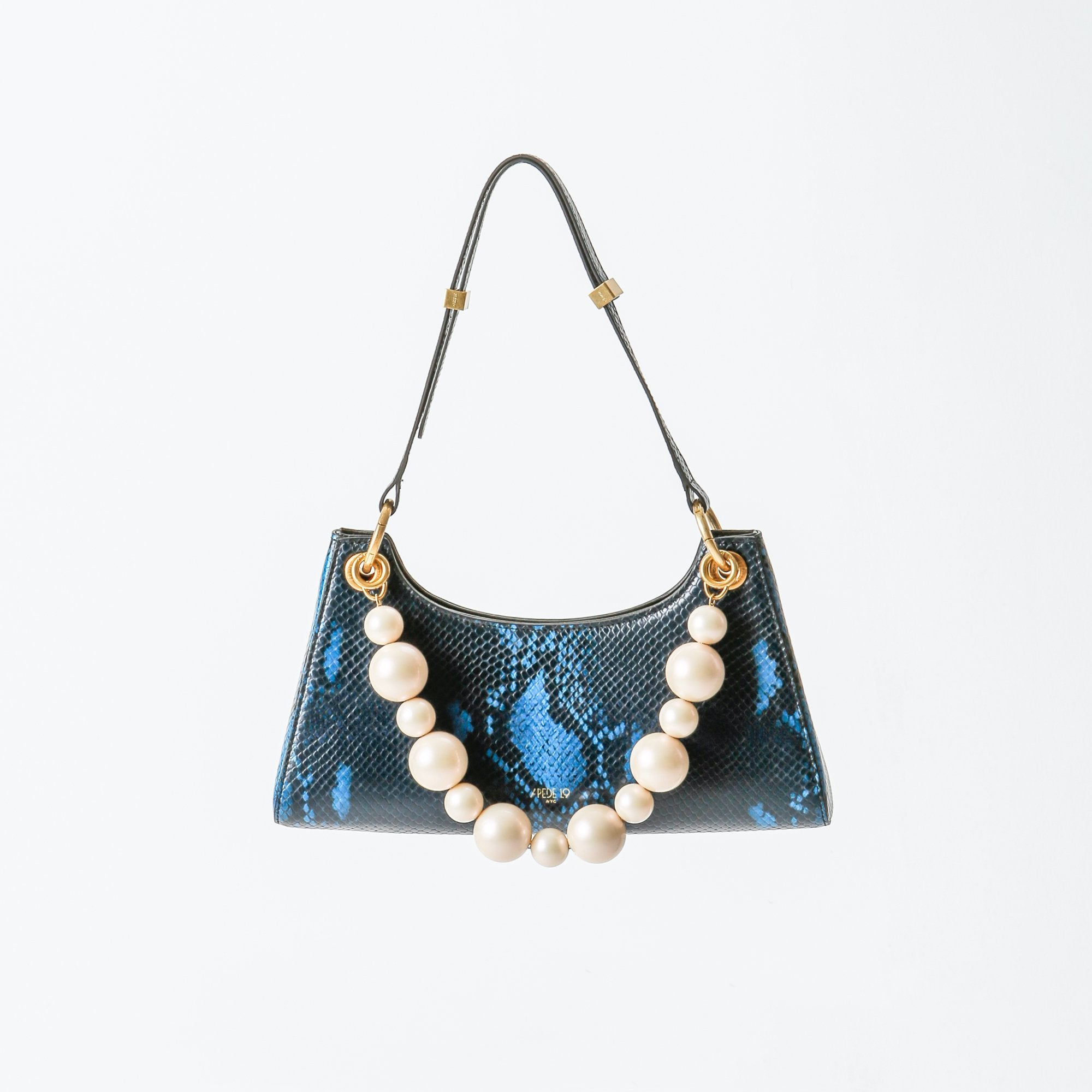 APEDE MOD Blue Snake Pattern Froggy Bag | MADA IN CHINA