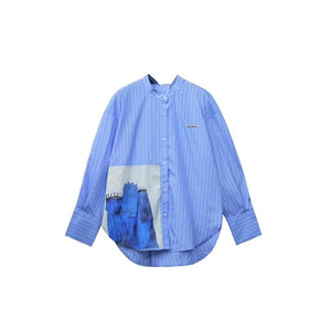 AIMME SPARROW Blue Strip Shirt | MADA IN CHINA