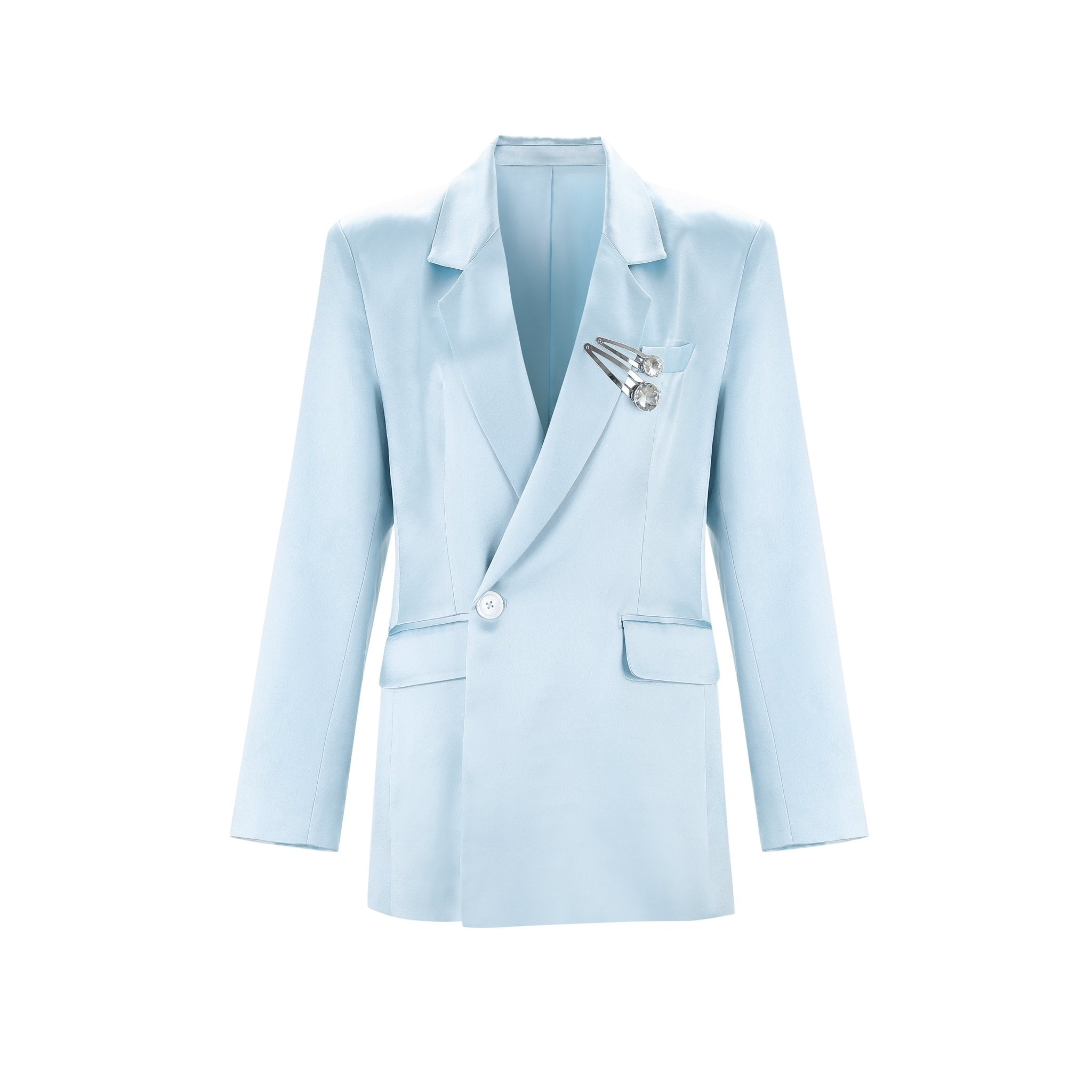 WARM AID Blue Triacetate Suit Jacket | MADA IN CHINA