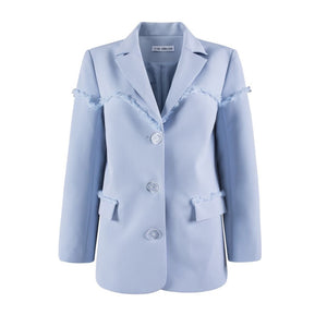 VIAS HERLIAN Blue Webbing Blazer Jacket | MADA IN CHINA