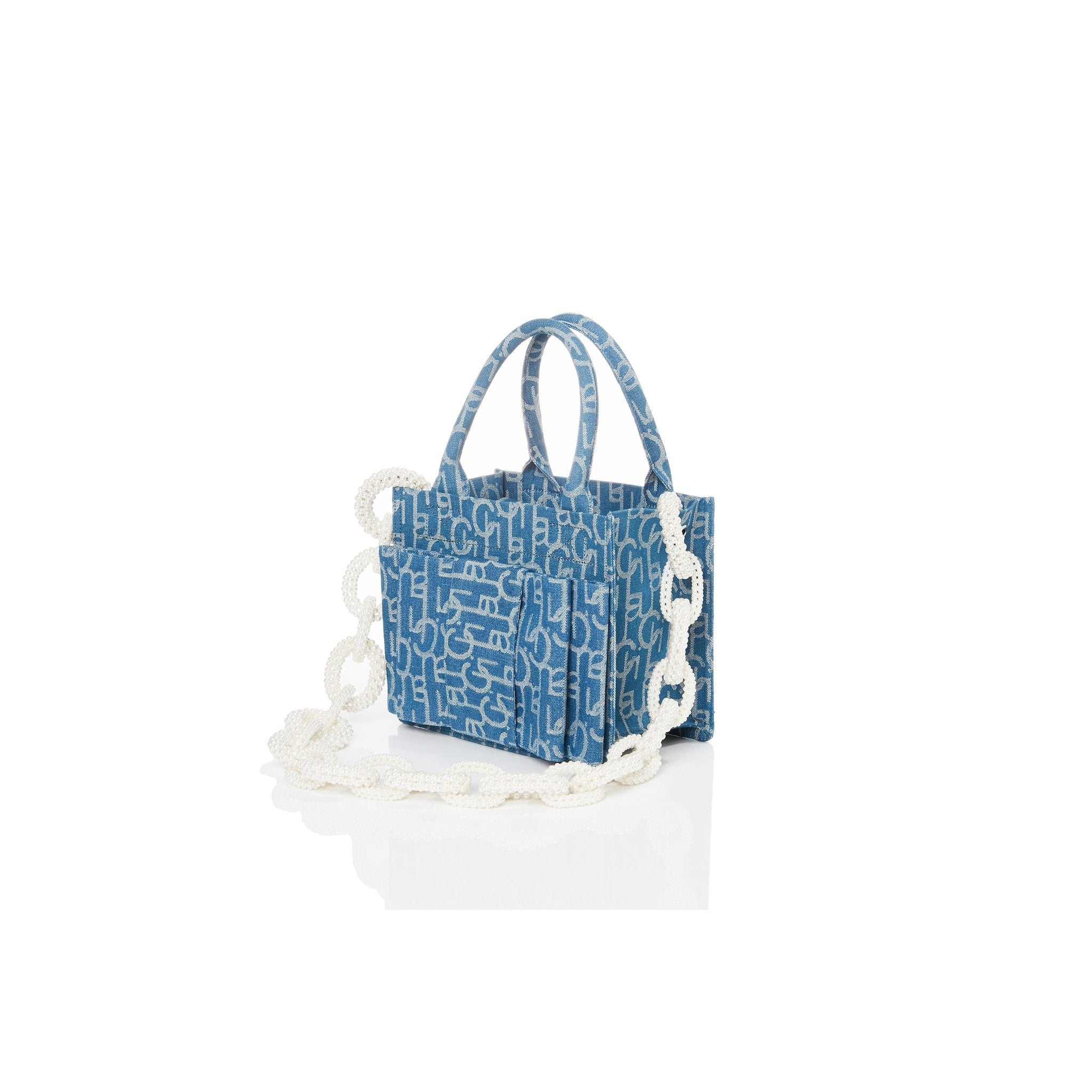 Laurence & Chico Bowtie Laulau Chichi Jacquard Small Square Tote | MADA IN CHINA