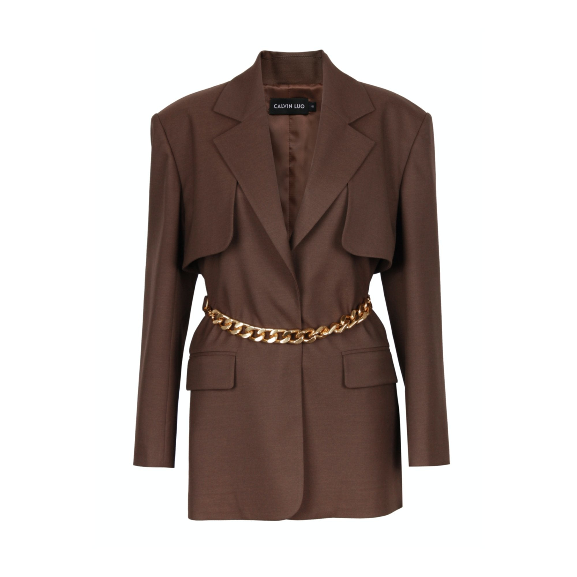 CALVIN LUO Brick Waist Chain Blazer Jacket | MADA IN CHINA