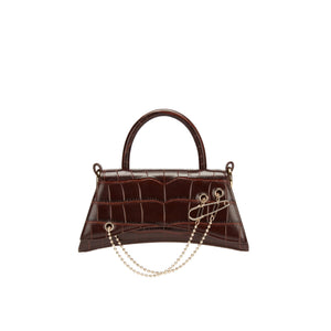 LOST IN ECHO Brown Barrett Metail Chain Bag Small | MADA IN CHINA