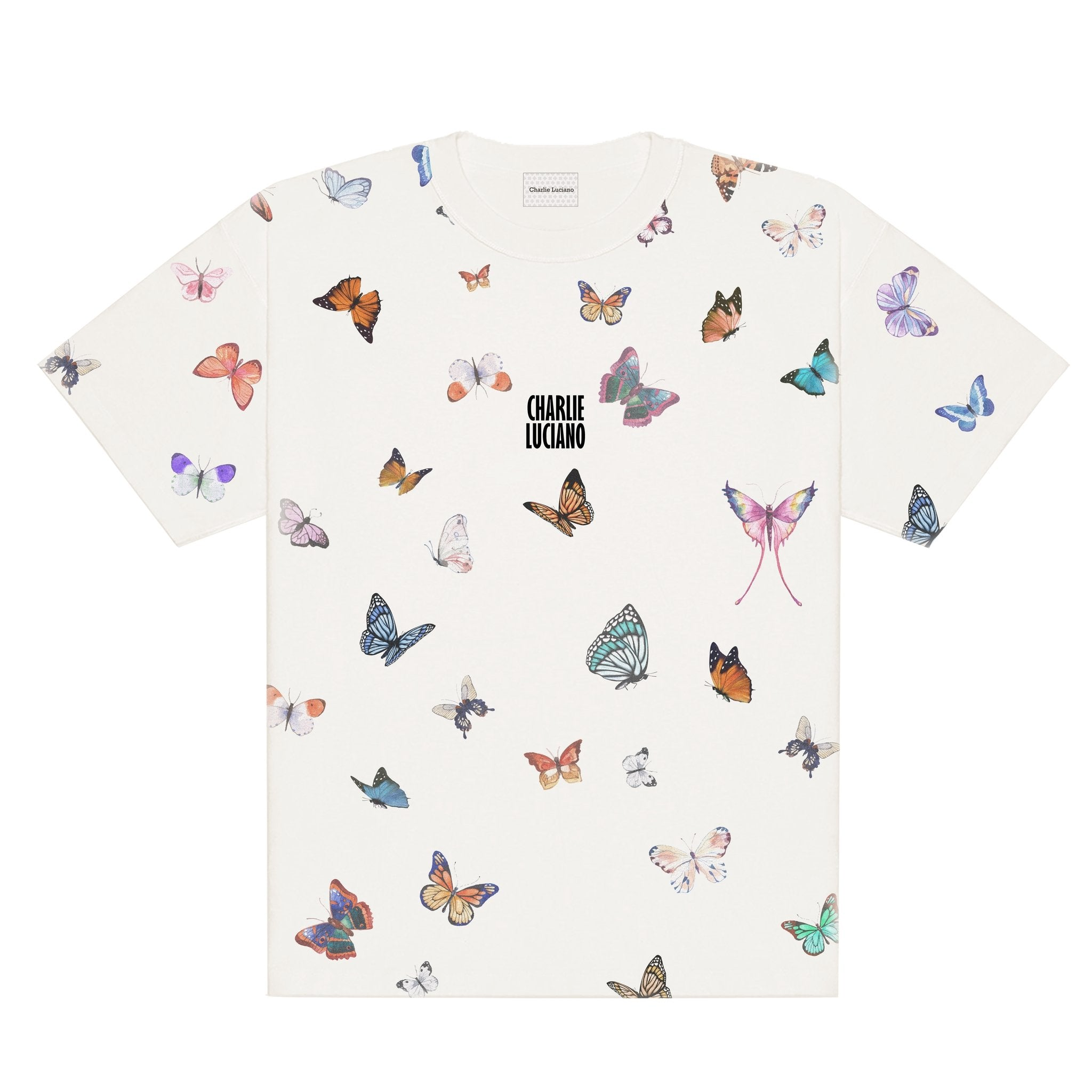 CHARLIE LUCIANO Butterfly All Over T-Shirt | MADA IN CHINA