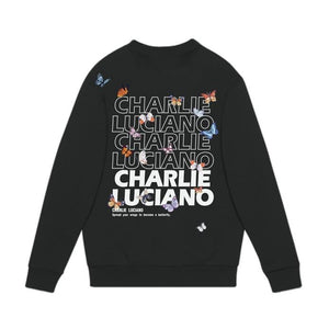 CHARLIE LUCIANO Butterfly Logo Sweater Black | MADA IN CHINA