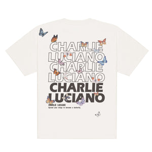 CHARLIE LUCIANO Butterfly Logo T-Shirt | MADA IN CHINA
