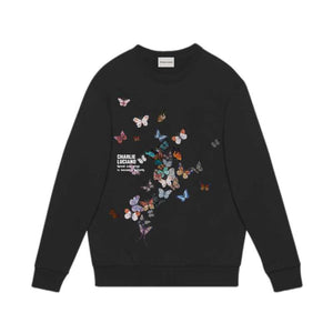CHARLIE LUCIANO Butterfly Print Sweater Black | MADA IN CHINA