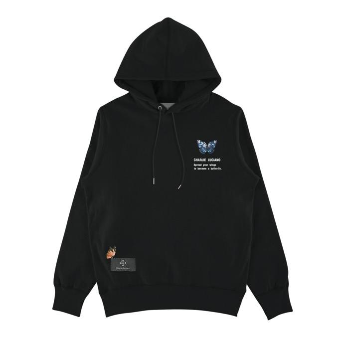 CHARLIE LUCIANO Butterfly Tag Hoodie | MADA IN CHINA